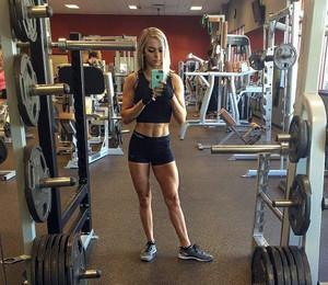 Cute athletic girl show their selfshots